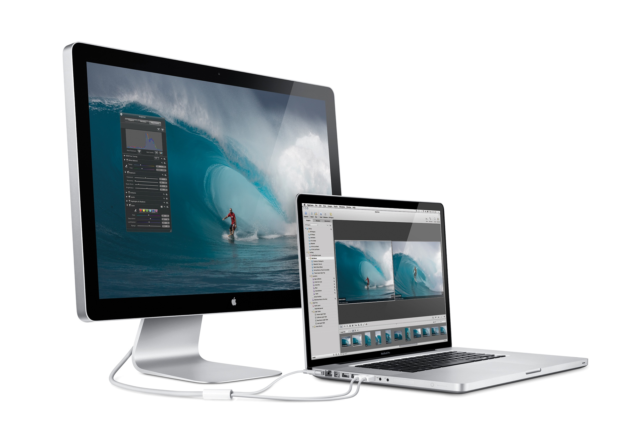 The 17-inch MacBook Pro and 24-inch LED Cinema Display