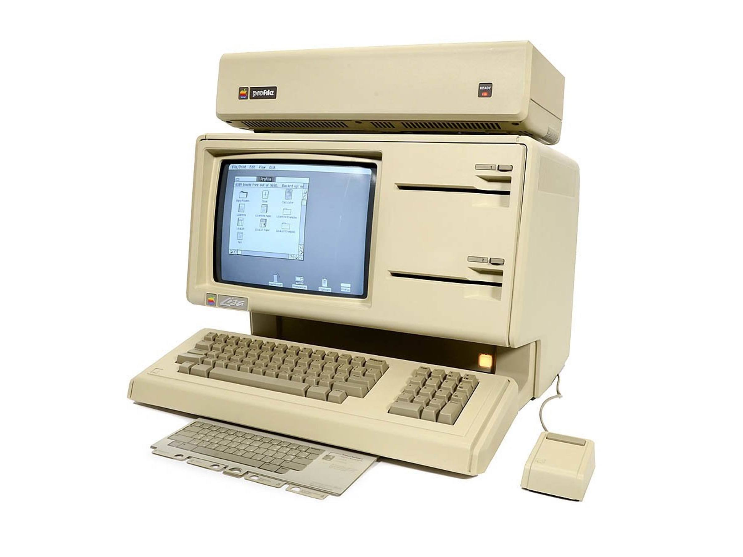 Apple Lisa with optional ProFile hard drive